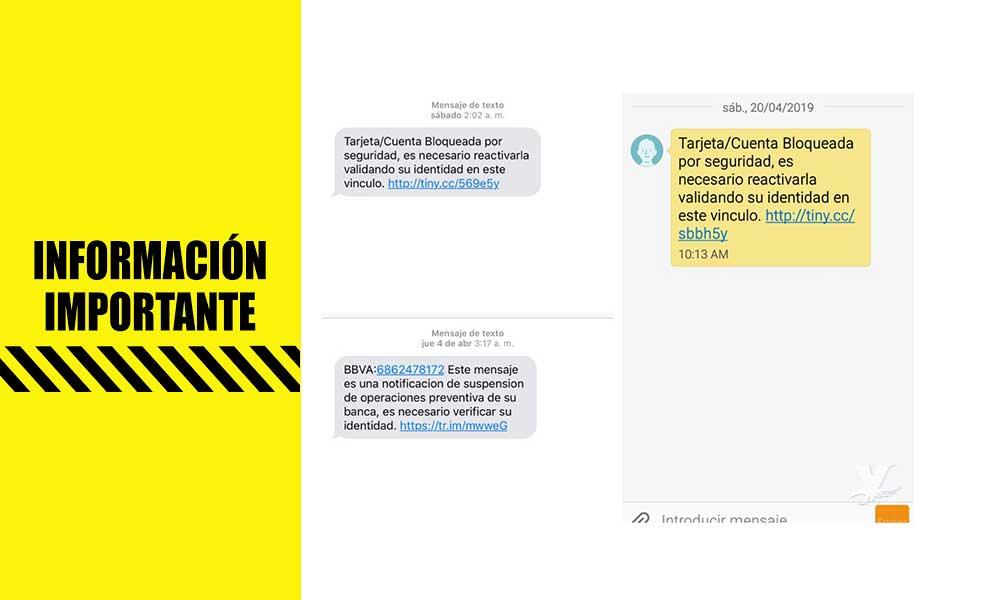 ¡Cuidado! Alertan por mensajes de texto bancarios en BC