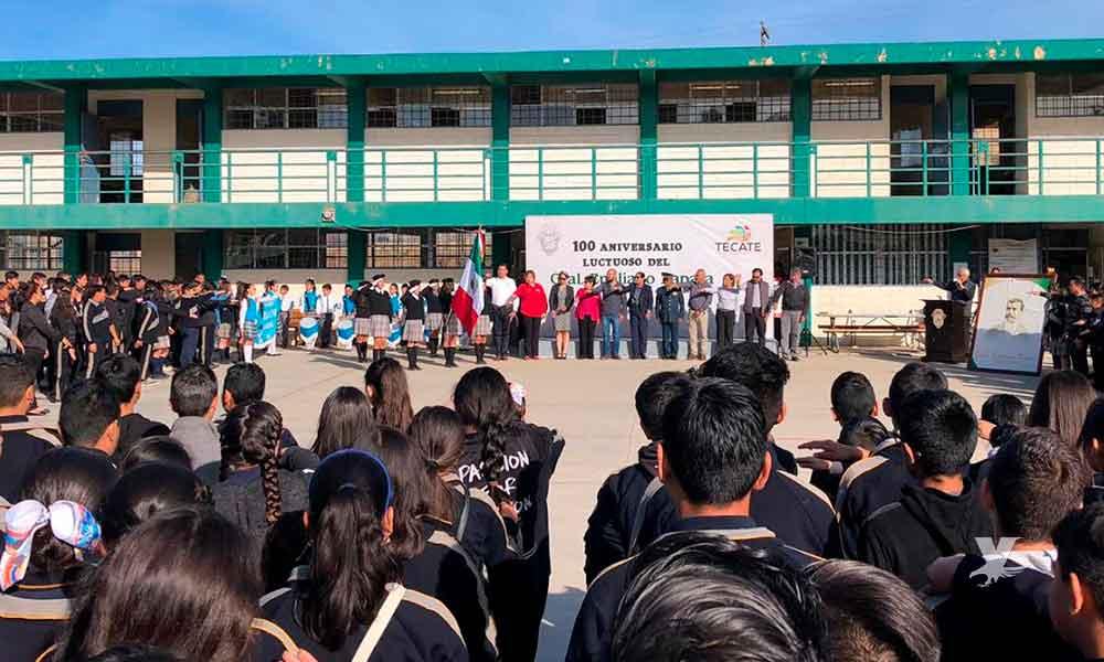Conmemora Gobierno de Tecate el Centenario Luctuoso de Emiliano Zapata