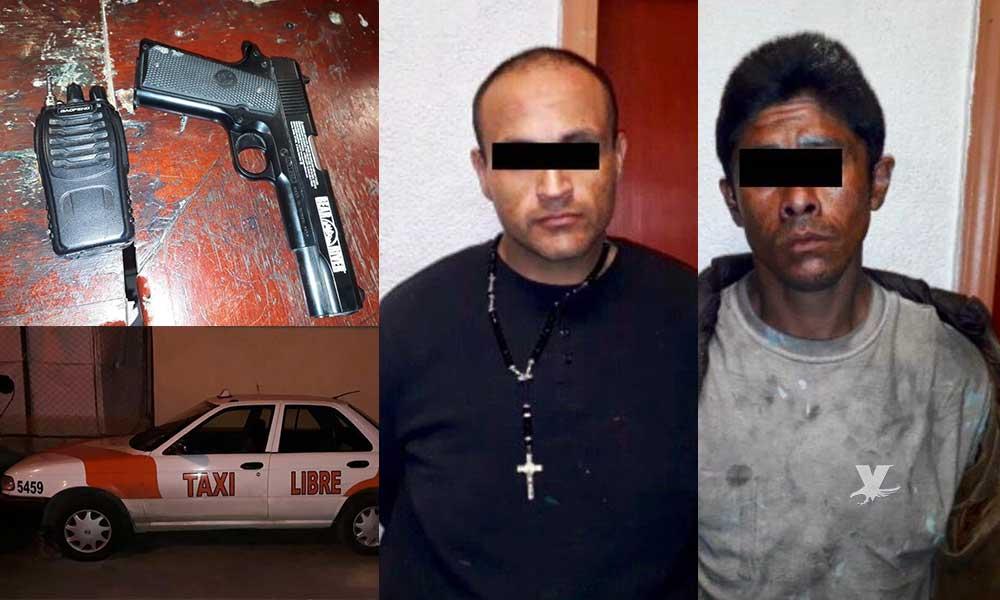 Detienen a taxista con arma de utilería en Tecate