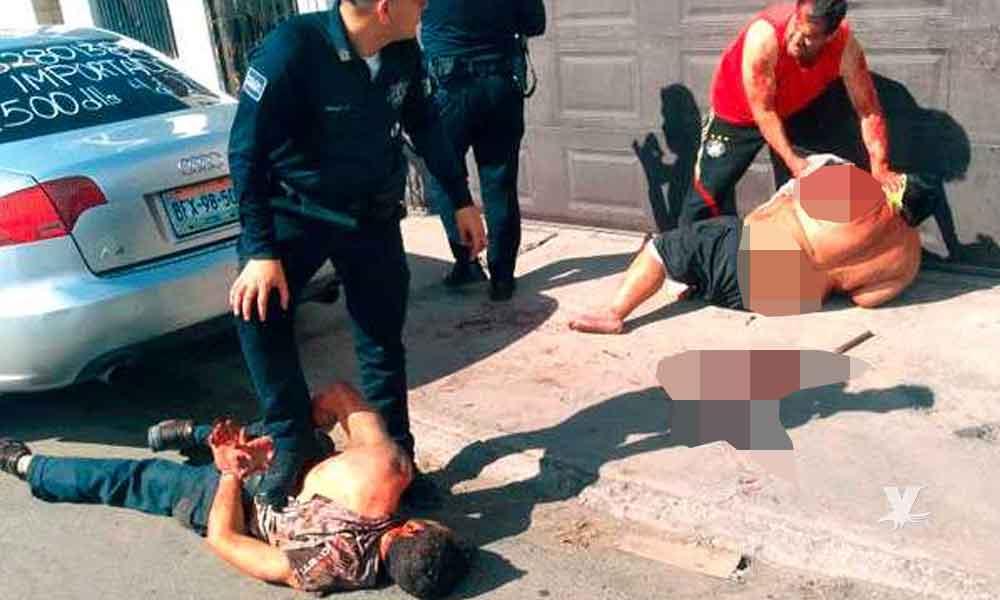 Migrante Salvadoreño ataca con cuchillo a dos personas en Mexicali por no permitirle usar el baño