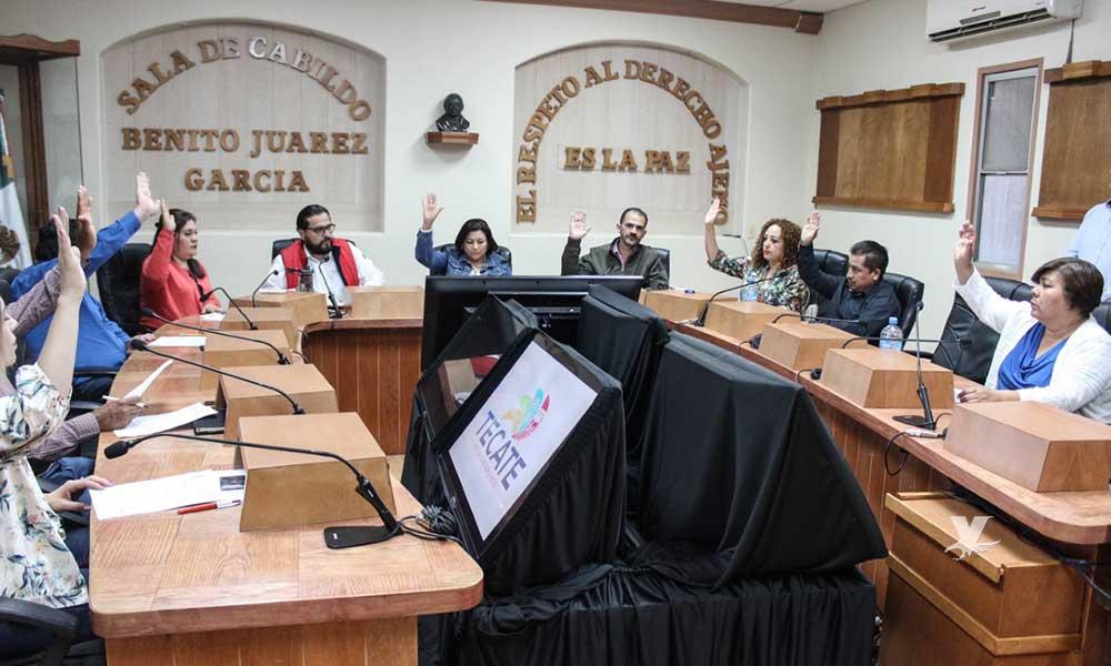 Cabildo de Tecate aprueba ejecución de obras para el 2019