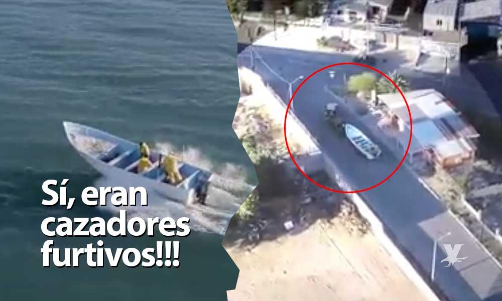 (VIDEO) Dron graba momento exacto del enfrentamiento entre Marina y 'Totoaberos' en San Felipe