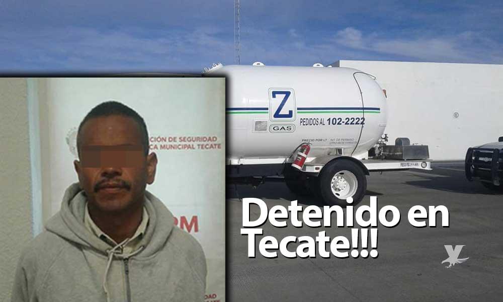 Detenido por robar camión de gasera en Tecate