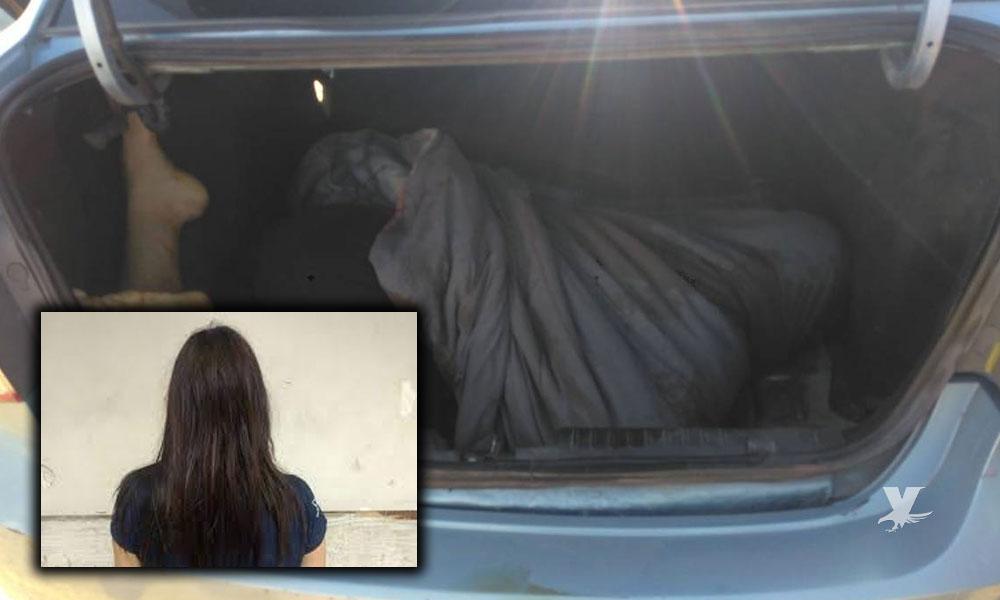 Liberan a Heidi en Tijuana, la mujer que llevaba los cuerpos de sus padres en la cajuela