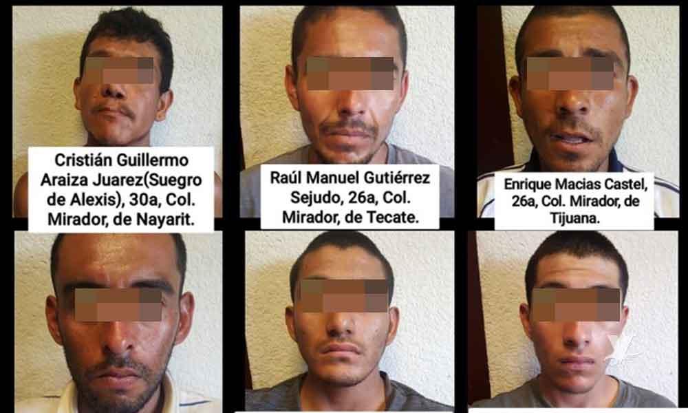 Detienen a 6 presuntos ladrones de la colonia El Mirador