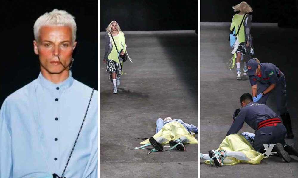 (VIDEO) Muere modelo durante pasarela de la semana de la moda en Brasil