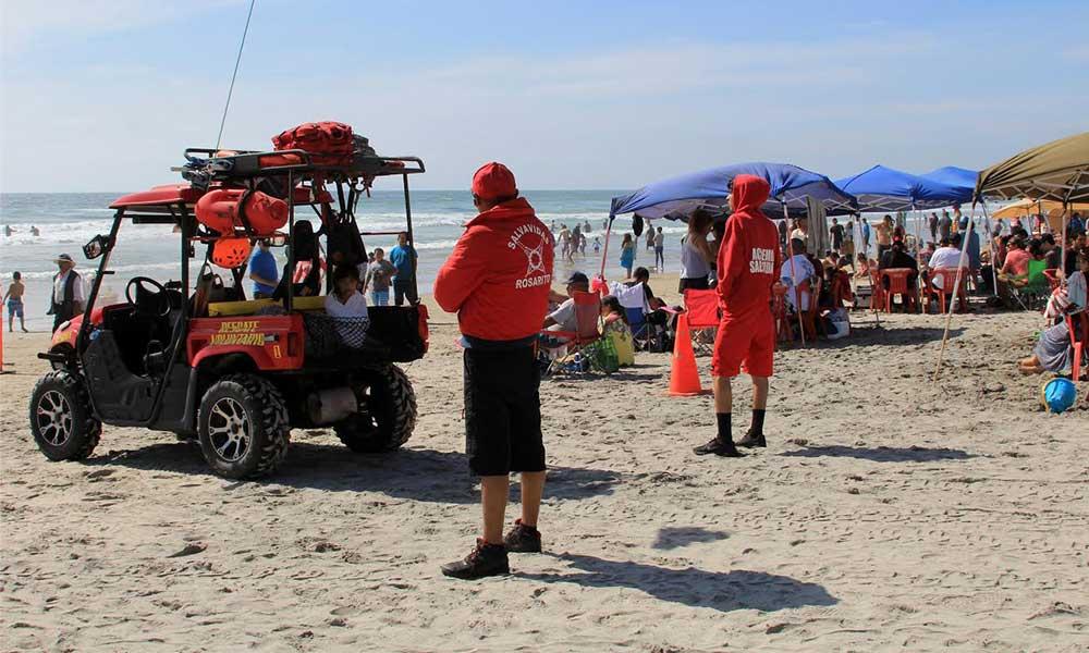 Salvavidas de Playas de Rosarito listos para recibir bañistas esta Semana Santa en BC