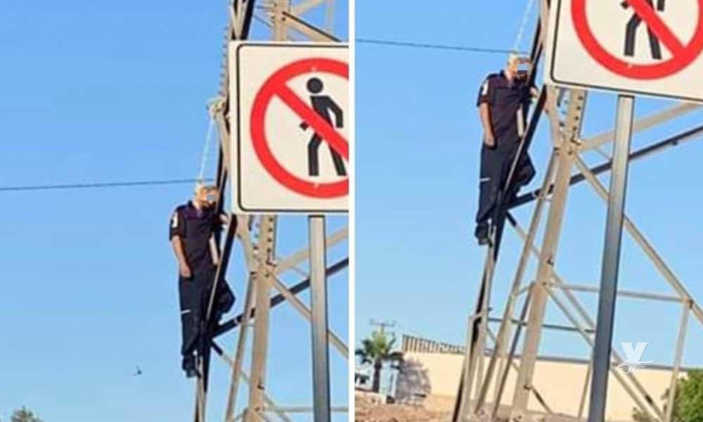 Hombre se quita la vida colgándose de torre de CFE