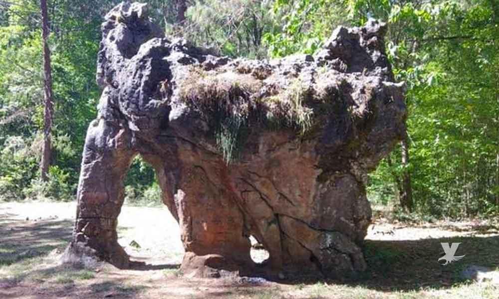 """""""Piedra del Elefante"""" sobrevivió por miles de años hasta que una familia mexicana la """"firmó"""""""