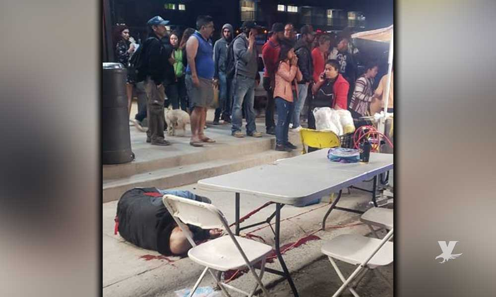 Taquero es asesinado mientras trabajaba y su hija de 6 años resulta herida en Tijuana