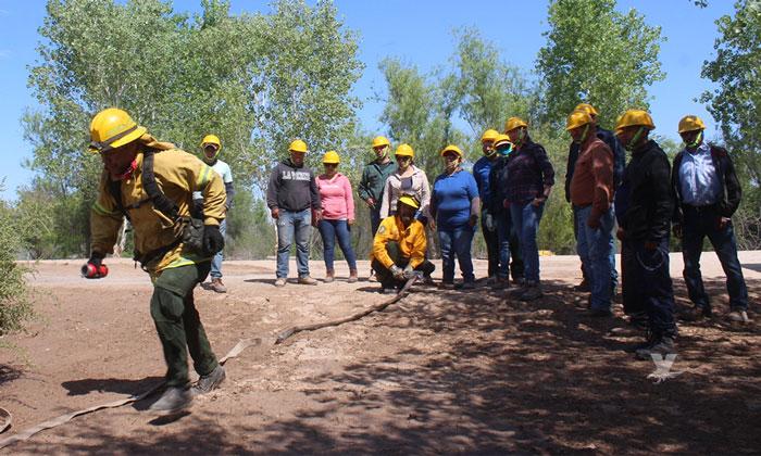 Capacita CONAFOR a personal militar y civil para la atención de incendios forestales