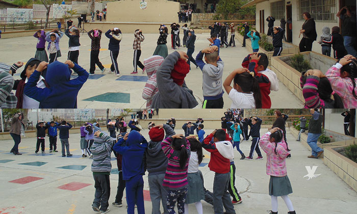 Participan en simulacro de sismo alumnos de Educación Básica en Tecate