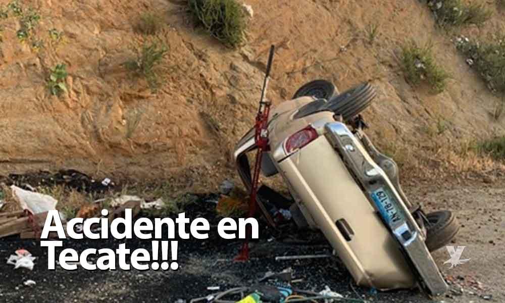 Accidente deja una persona sin vida y otra lesionada frente a los 'campos del río' en Tecate