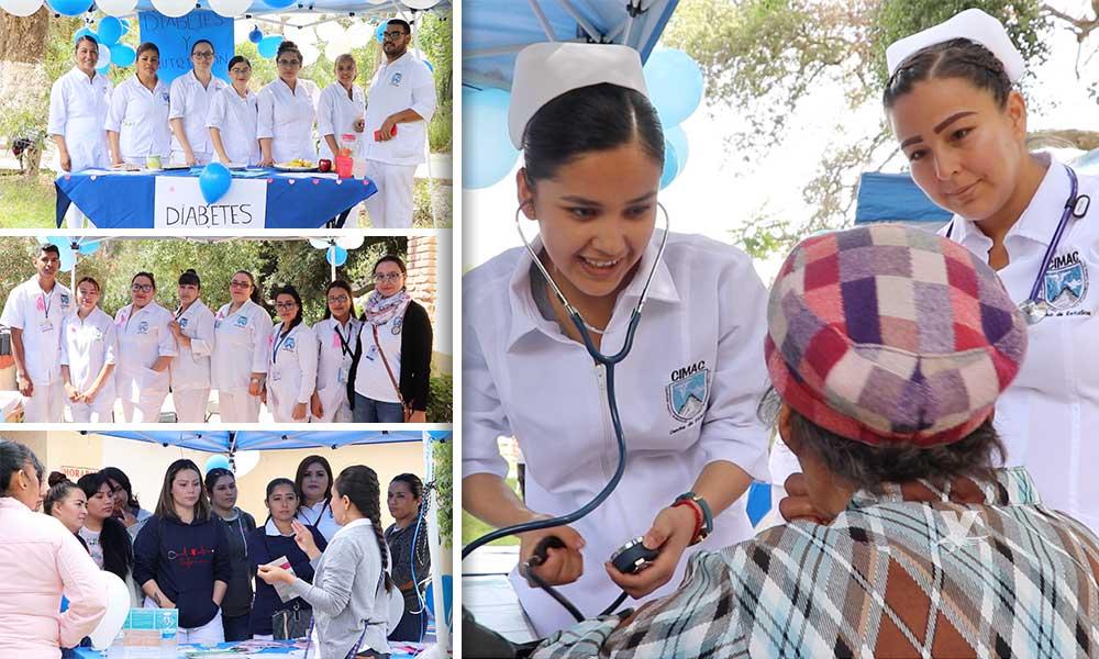 Exitosa 'Feria de la Salud' de estudiantes Auxiliares en Enfermería Avanzado en Tecate