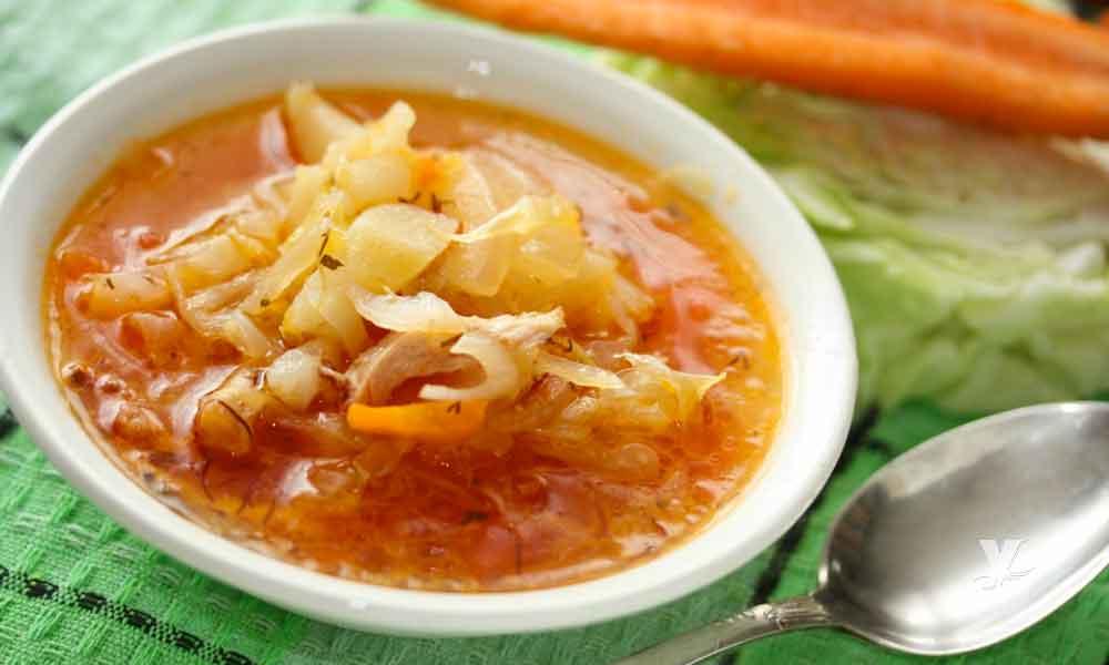 Sopa de repollo la mejor comida si buscar bajar de peso