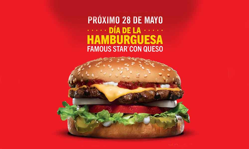 """¡Como lo lees! Carl's Jr festeja el """"Día de la Hamburguesa"""" con hamburguesas a $1 peso"""