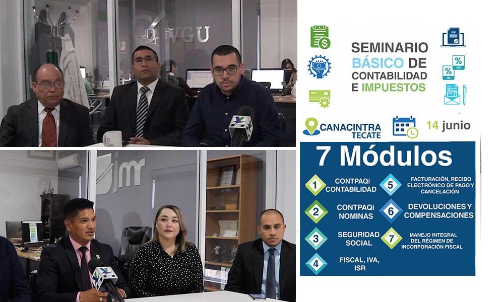 Realizarán el primer Seminario de Contabilidad e Impuestos en Tecate