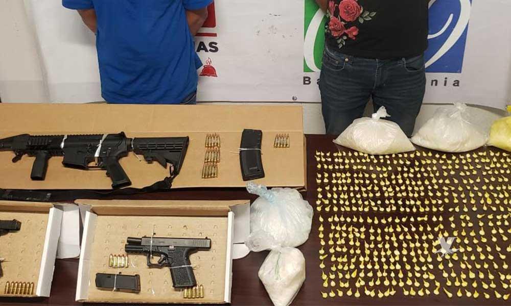 Detenidos con más de 3 kilos de cristal y 3 armas de fuego