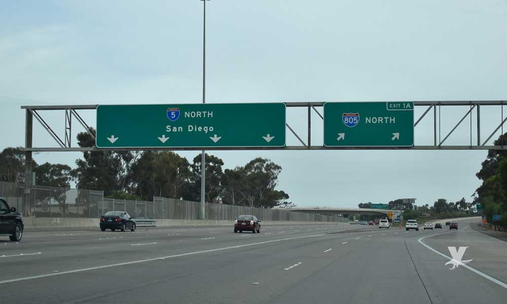 Cerrarán las autopistas I-5 y I-805 temporalmente a la altura de 'Camino de la Plaza'