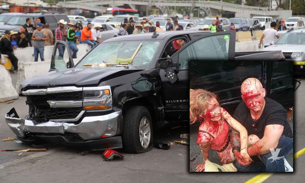 Estadounidense que atropelló a 5 vendedores en la garita de Tijuana, dice ser la víctima