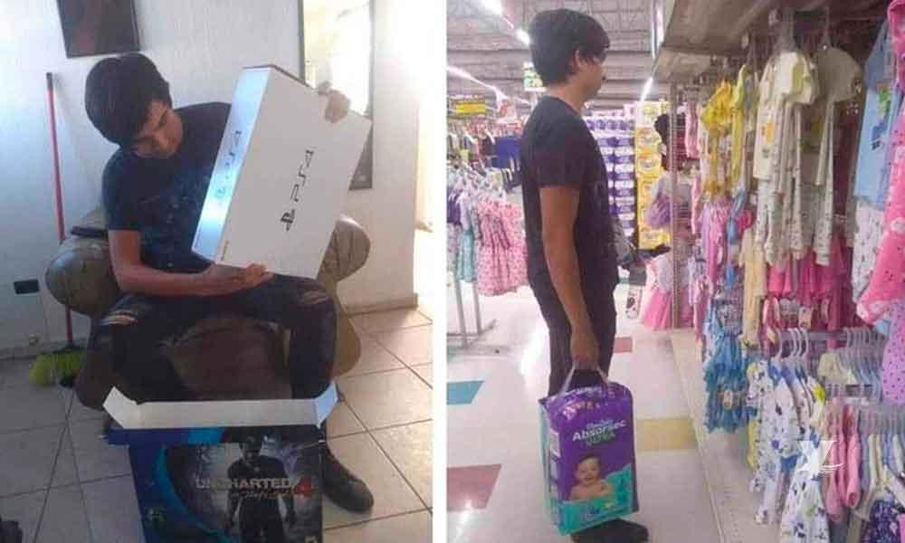 Joven decide vender su PS4 para comprar pañales para su bebé