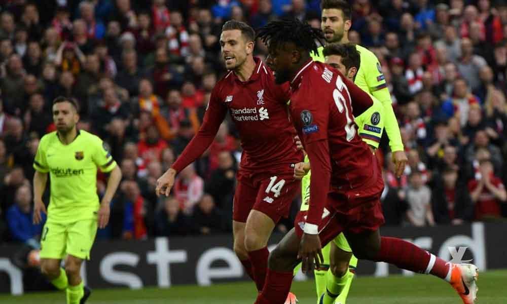 Liverpool golea al Barcelona y lo elimina de la Champions League