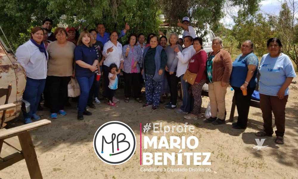 """""""Seré un promotor de la zona rural con oportunidades laborales, impulso a productores y desarrollo"""": #ElProfe Mario Benitez"""
