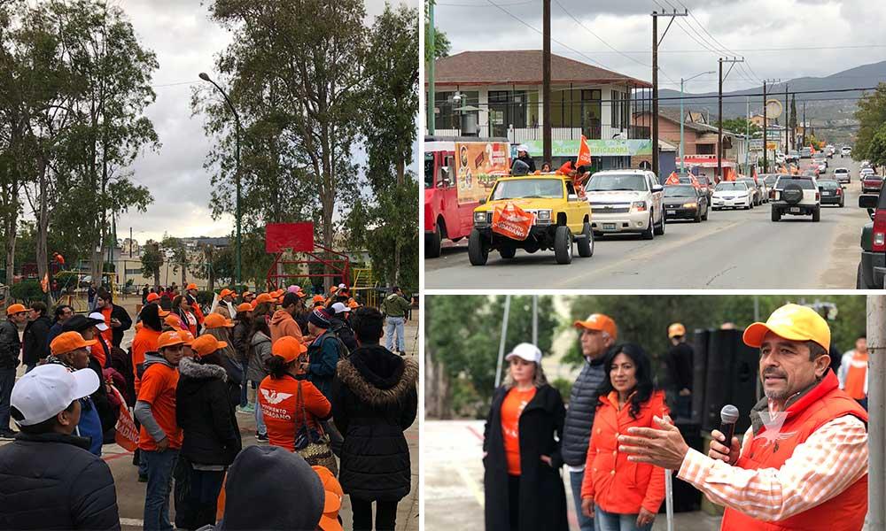 Candidatas de Movimiento Ciudadano cierran campaña con caravana en Tecate