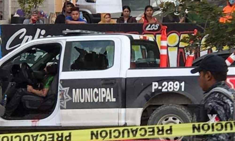 Policía de Tijuana mata a sujeto que pretendía robar una patrulla