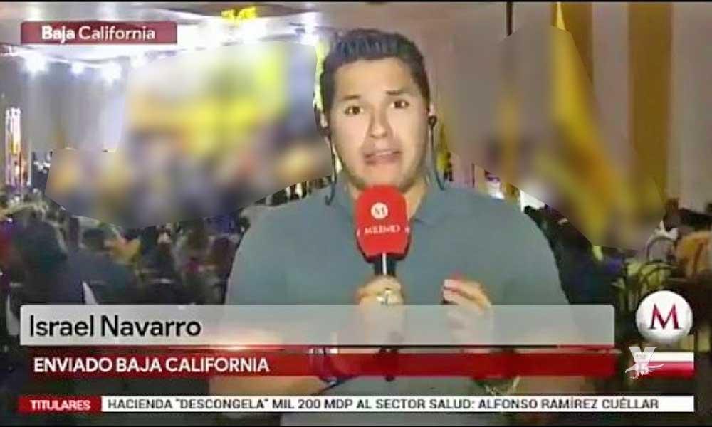 (VIDEO) Reportero en Tijuana dice 'B3rg4' durante transmisión en vivo para cadena nacional