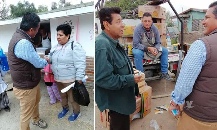 Se reúne candidato Mario Benítez con locatarios de Ojo de agua en Tijuana