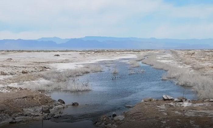La laguna salada en Mexicali se está llenando de agua
