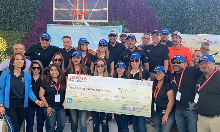 Logra recaudar Toyota más de 100 mil dólares para club de niños y niñas
