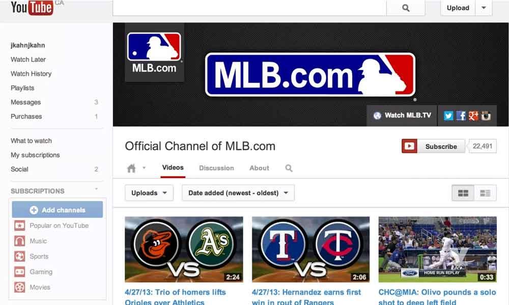 YouTube transmitirá juegos de Grandes Ligas