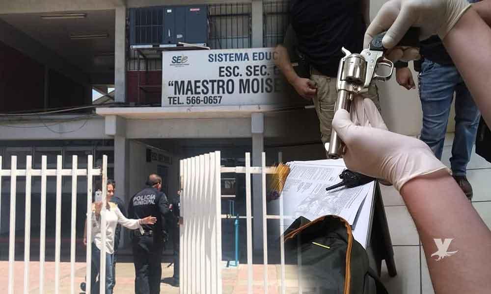 Estudiante armado ingresa a secundaria en Mexicali amenazando con realizar un tiroteo