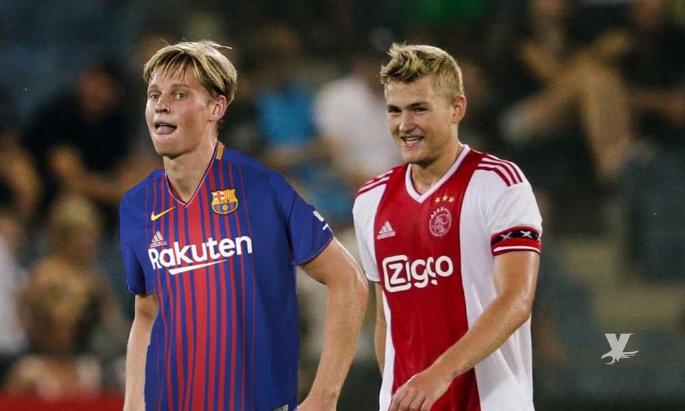 Frankie De Jong espera a su amigo Matthijs De Ligt en el Barcelona