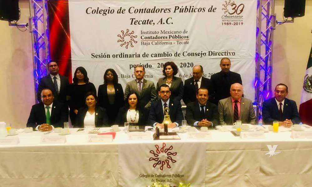 Tomó protesta el Colegio de Contadores de Tecate durante el periodo 2019-2020
