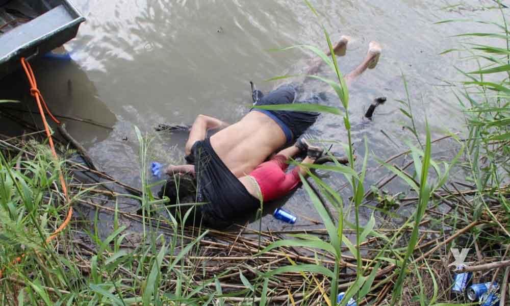 Padre y su hija de 2 años mueren ahogados al intentar cruzar el Río Bravo
