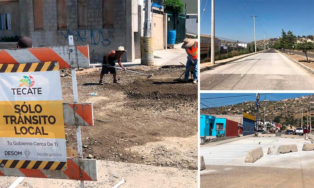 Ayuntamiento de Tecate proyecta casi 5 millones de pesos en infraestructura vial para Tecate