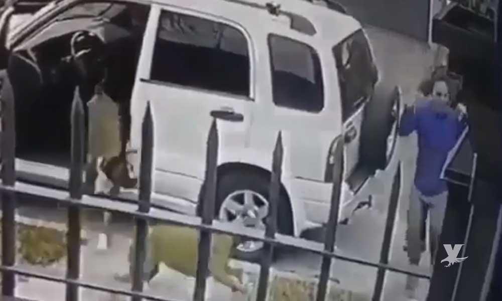 (VIDEO) Perros salvan a su dueño de ser asaltado