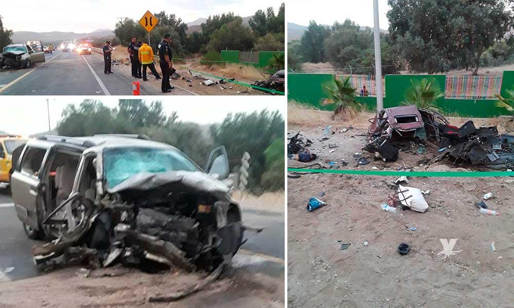 Bomberos de Tecate atienden reporte de accidente en carretera Tecate-Ensenada