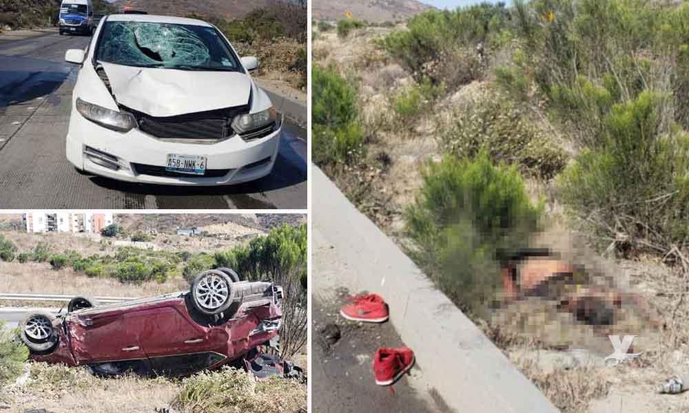 Muere hombre atropellado en bulevar 2000 de Tijuana