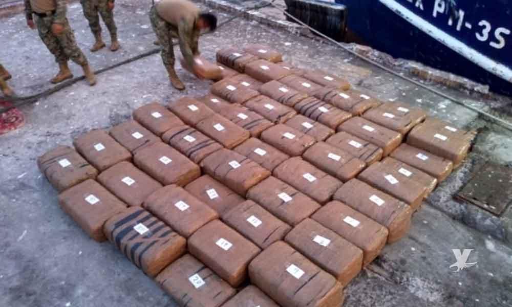 Marina de México decomisa una tonelada y media de marihuana en BCS