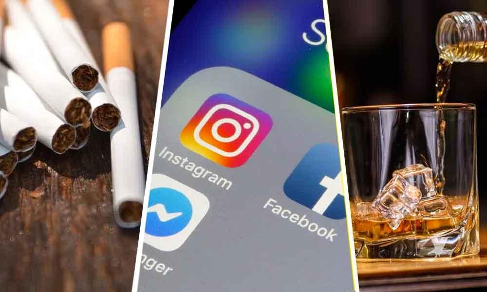 Facebook e Instagram prohibirán publicaciones con contenido sobre alcohol y cigarros