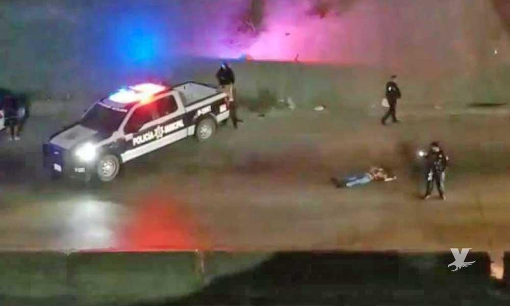 (VIDEO) Muere grafitero en Tijuana, resbaló de un puente mientras 'rayaba' y fue atropellado