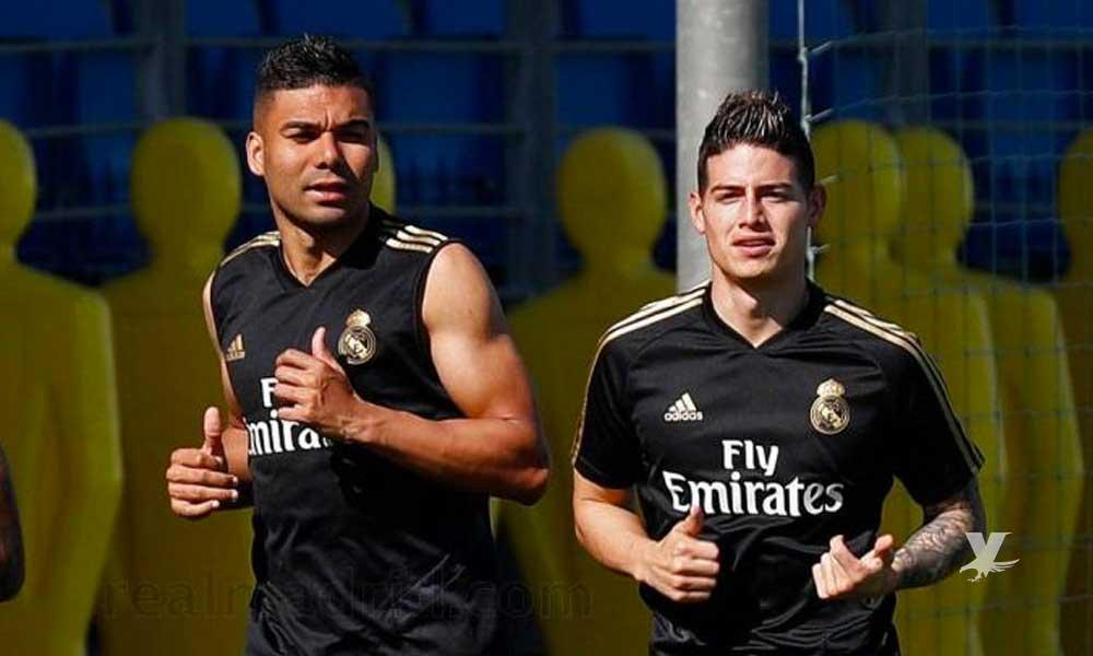 James Rodríguez ya entrena con el Real Madrid