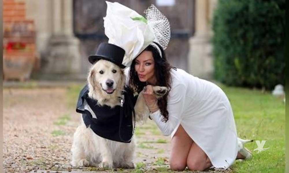 Modelo se cansó de no encontrar el amor y prefirió casarse con su perro
