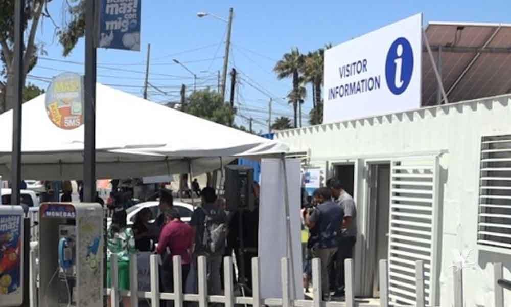 Instalan módulo de información para turistas en garita de San Ysidro