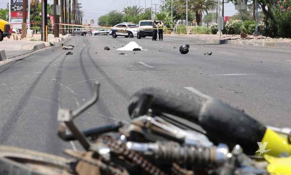 Motociclista es arrollado y pierde la vida en Mexicali