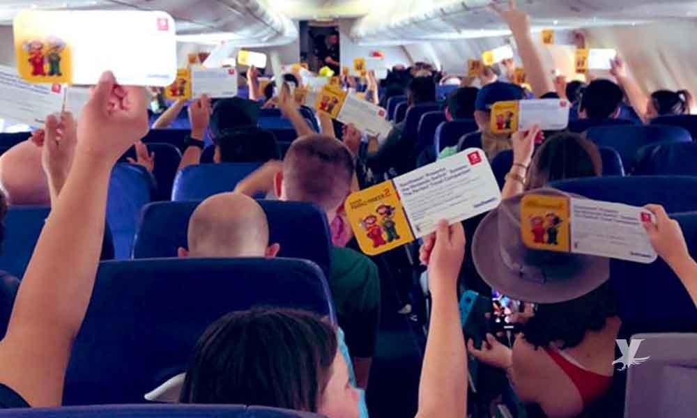Nintendo regala consolas a todos los pasajeros de un vuelo a San Diego